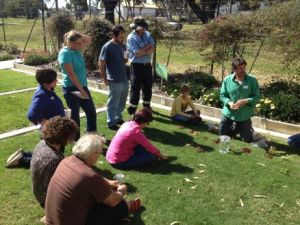 Chris is helping small lifestyle blockers to visually assess a range of soil types