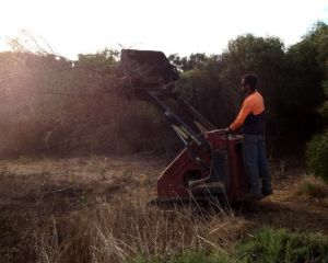 The Ditch-witch machinery in action.