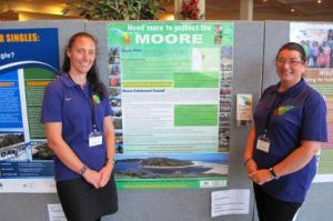 Rachel Walmsley and Helen Watkins from MCC at the Tipping Point NRM Conference
