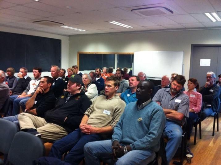 NACC's Stanley Yokwe visited a seminar about soil featuring Dr Stapper, last week.